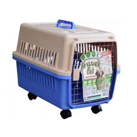 7506 TRAVEL PET TRANSPORT C/TAPETE Y RUEDAS 66x47x46 (5)