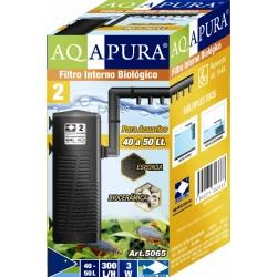 AQAPURA FILTRO INTERNO BIOLOGICO CON ROCIADOR PARA ACUARIOS Y ACUATERRERARIOS 5065 PARA 40 A 50L 300L/H(24)