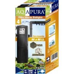 AQAPURA FILTRO INTERNO BIOLOGICO CON ROCIADOR PARA ACUARIOS Y ACUATERRERARIOS 5077 PARA 80 A 90L 600L/H(24)
