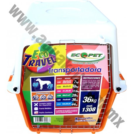 1308 ECOTRAVEL TRANSPORTADORA C/REJILLA 78*60*60cm (4)