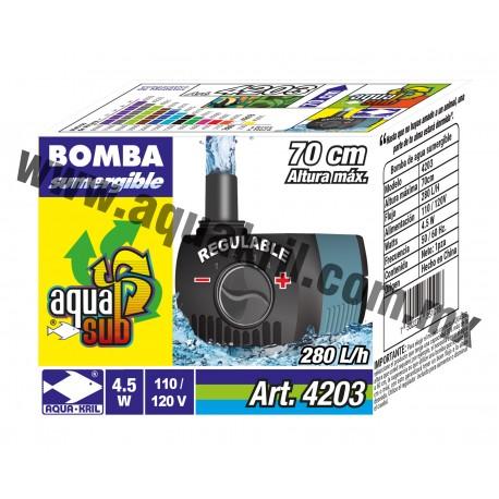 4203 AQUASUB 280 L/H .70M 4.5W (60)
