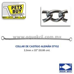 "12555 COLLAR CASTIGO ALEMAN STYLE 2.5mm X 22"" (55CM)"