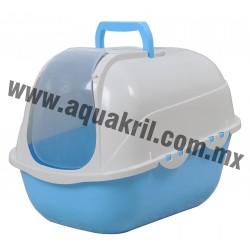 1519 Arenero Cat toilet SPACE con cernidor, pala y cartucho de carbón activado 53x41x42 cm.
