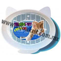 7665 Arenero CERNICAT para gato con cernidor 35x26x5 cm.