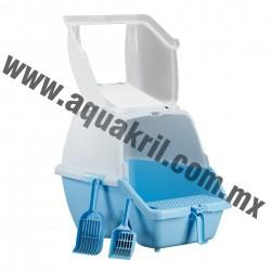 1528 Arenero Cat toilet JUMBO con pala y filtro de carbón activado 63x45x45 cm.