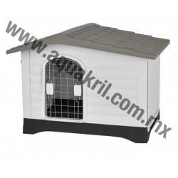 10127 CASA PARA PERRO DOG HOUSE GRIS