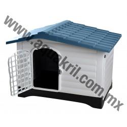 10128 CASA PARA PERRO DOG HOUSE AZUL