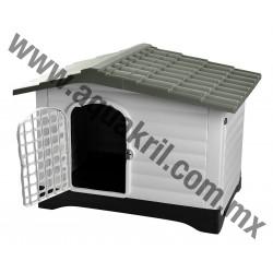 10129 CASA PARA PERRO DOG HOUSE GRIS