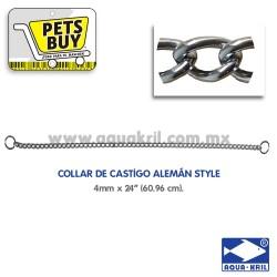 "7626 COLLAR CASTIGO ALEMAN STYLE 4mm x 24"" (60CM)"